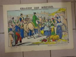 Chromo-chacun Son Metier- Napoleon -de La Fabrique De Pellerin A Epinal --georgin D.  35x50 Cm Environ - Fiches Illustrées