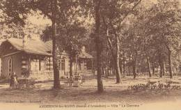 33 ANDERNOS  ( Bassin D´ Arcachon )  Belle VILLA  La GARENNE  Femmes Enfants Dans Le PARC - Andernos-les-Bains