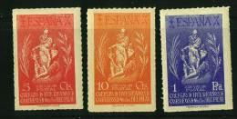 HUERFANOS DE CORREOS  Nostr Señora Del Pilar  Serie Completa 3 Valores ** - Spanish Civil War Labels