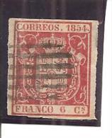 España/Spain-(usado) - Edifil  24 - Yvert  24 (o) - 1850-68 Kingdom: Isabella II