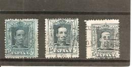 España/Spain-(usado) - Edifil  315-A-B - Yvert  277, 287, 287a (o) - Usados