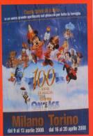 [DC1135] CARTOLINEA - 100 ANNI DI MAGIA DISNEY ON ICE - MILANO TORINO - Disney