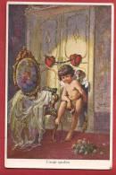 C0831 Cupidon, L'ange Gardien, Coeurs.Non Circulé. Neury - Angels