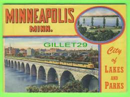 BOOK - MINNEAPOLIS, MINN.- STORY OF THE CITY AROUND 1950 - 32 PAGES - 17 COLOR PICTURES - DIMENSION 17X12 Cm - - Exploration/Travel