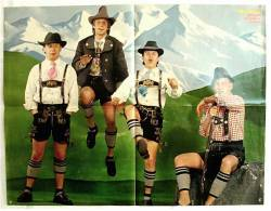 "Poster Musik-Gruppe  Spider Murphy Gang  -  Rückseitig ""Grease 2""  - Ca. 52 X 40 Cm  -  Von Bravo Ca. 1982 - Plakate & Poster"
