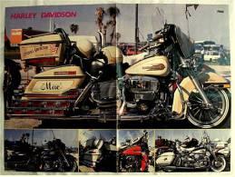 Motorrad Poster :  Harley Davidson  -  Rückseite : Bob Marley  -  Ca. 1982 Aus Der Pop-Rocky - Motorräder