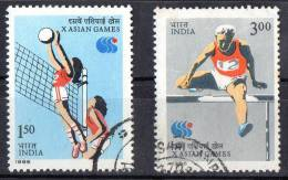 India 1986 X Asian Games Set Of 2 Used - India