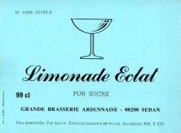 ETIQUETTE NEUVE LIMONADE ECLAT PUR SUCRE GRANDE BRASSERIE ARDENNAISE SEDAN 08200 - Sonstige