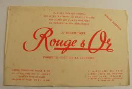 BUVARD Bibliothèque Rouge & Or - Livre - Papeterie