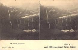 CARTE STÉRÉOSCOPIQUES JULIEN DAMOY - Série N°11 - Cascade De Gavarnie - Cartes Stéréoscopiques