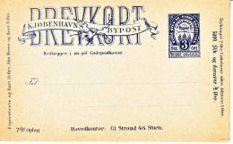 Denmark  Local Post  Postal Card  * - Local Post Stamps