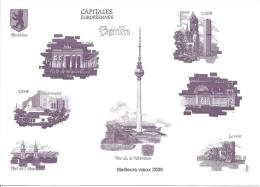 Capitales Européennes - Berlin - Fac Similé Du Bloc De Timbres-poste - Voeux De Le Poste - Documents De La Poste