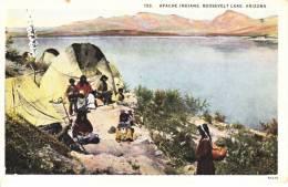 Arizona Postcard  APACHE  INDIANS  ROOSEVELT  LAKE  Mint - United States