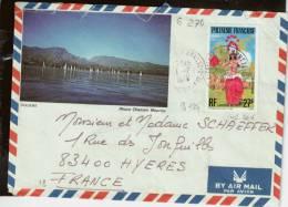 CAD /PA  124  PAPEETE-RP  ANNEXE  1  POLYNESIE  1 -7 -1976          Pour   Hyères  83