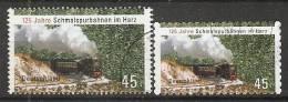 Germany 2012 Schmalspurbahnen Im Harz (o) Mi.2910+2916 - BRD