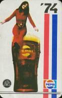 PEPSI * COLA * SOFT DRINK * WOMAN * GIRL * BUDAPEST * CALENDAR * FAJV 1974 * Hungary - Calendarios