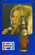 PEPSI * COLA * SOFT DRINK * WOMAN * GIRL * BUDAPEST * CALENDAR * FAJV 1975 * Hungary - Calendarios
