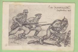 RADIGUET : La Poursuite, Septembre 1914.  2 Scans. - Weltkrieg 1914-18