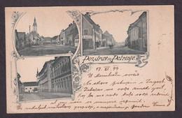 Pozdrav Iz Petrinje -- Old Postcard Traveled - Kroatië