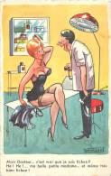 Réf : A -13- 144 : Humoristique Cabinet Médical Auscultation - Santé