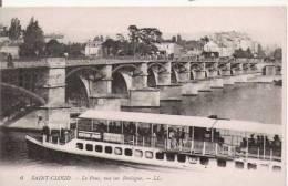 SAINT CLOUD 6 LE PONT VUE SUR BOULOGNE (PENICHE BEAU PLAN PUBLICITE CHOCOLAT MENIER) - Saint Cloud