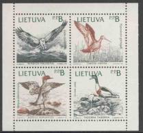 Lithunia Litauen Lietuva 1992 Mi 501 /4 YT 432/5 ** Pandion Haliaetus + Limosa Limosa+ Mergus Merganser+ Tadorna Tadorna - Vögel