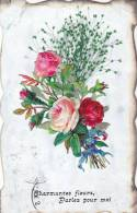 ¤¤   -   Carte Fantaisie  à Système  -  Découpis , Fleurs      -  ¤¤ - A Systèmes