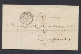 ALLIER MONTLUCON LAC Tad  Type 15 Du 18 Mai 1850 Taxe 2 Manuscrite  SUP - Marcophilie (Lettres)