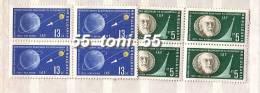 BULGARIA / Bulgarie 1962 SPACE – IAF  2v.-MNH   Block Of Four - Space