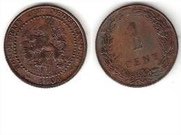 Netherlands 1 Cent 1906 Km 132.1  Vf+ - [ 3] 1815-… : Royaume Des Pays-Bas