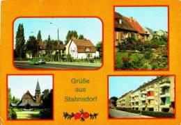 AK Stahnsdorf, Neubausiedlung, Heinrich-Zille-Straße, Waldfriedhof, Gel, 1983 - Stahnsdorf