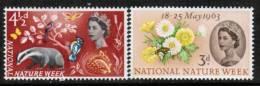 GREAT BRITAIN    Scott #  393-4**  VF MINT NH - 1952-.... (Elizabeth II)