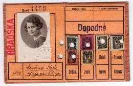 H IDENTITY CARD FOR URBAN TRANSPORT ZET ZAGREB CROATIA - Historical Documents