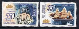 ROMANIA 2004 Amerigo Vespucci Anniversary  MNH / **.  Michel 5793-94 - 1948-.... Republics