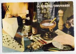 Recette Cuisine--SAVOIE--La Fondue Savoyarde (Apremont Et Roussete De Savoie,Kir Sec)cpsm 10 X 15 N° 43 éd Publistar - Recipes (cooking)