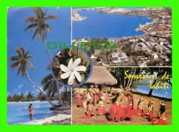 PAPEETE, TAHITI, OCÉANIE - VUE DE LA VILLE - CIRCULÉE - - Tahiti