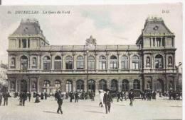 BRUXELLES 80 LA GARE DU NORD - Spoorwegen, Stations
