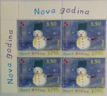 CROATIA -  4 Stamps 2009 - New Year 2010 - Croatie