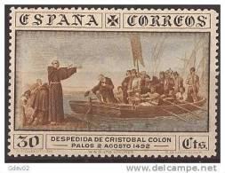 ES540-LA234TRO. Spain. Espagne .DESCUBRIMIENTO DE AMERICA.Cristobal Colon. 1930 (Ed 540*).charnela MAGNIFICO - Religiones