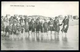 CPA.  FORT-MAHON-PLAGE.  Sur La Plage. - Fort Mahon