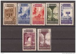 MA234-L2987TARO.Marruecos .Maroc  Marocco.MARRUECOS ESPAÑOL.TIPOS DIVERSOS 1941.(Ed 234/0**) Sin Charnela.MAGNIFICA - Arquitectura