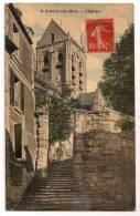AUVERS-sur-OISE (S.et-O.) - L'Eglise - Animée - Colorisée - - Auvers Sur Oise