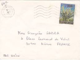 1993, MADAGASCAR, LETTRE, ANTANANARIVO Pour La FRANCE, Yv ???? Seul Sur Lettre FLORE / 2600 - Madagascar (1960-...)