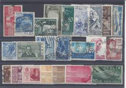 ITALIE - 1949/61 - PETIT LOT POSTE Et P AERIENNE - OBLITERES Et NEUFS - TB - - 6. 1946-.. Republic