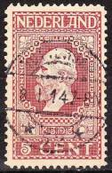 1913 Jubileumzegels 5 Cent Rood Lijntanding 11½ : 11 NVPH 92 A Met Superbe Afstempeling ROTTERDAM 52 - Poststempels/ Marcofilie