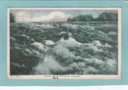 RAPIDS  ABOVE  THE  FALLS  .  NIAGARA -  1918  -  ( Timbre Arraché ) - Ontario