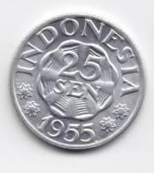@Y@  Indonesie  25   Sen 1955    UNC     (C60) - Indonésie
