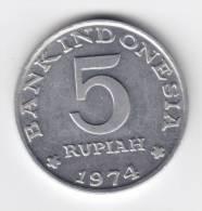 @Y@  Indonesie  5 Rupiah 1974   UNC     (C66) - Indonésie