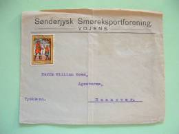 Denmark 1924cover To Germany With Pirate Label - Ship - Postman - Stamps Missing (fallen Off) - 1913-47 (Christian X)