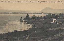 CPA 74 Lac D'annecy VEYRIER Les Bords Du Lac Vue Sur L Imperial Palace Et Montagne De Mandal - Veyrier